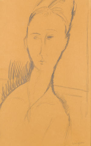 Amedeo Modigliani (Italian, 1884-1920) Portrait de Jeanne