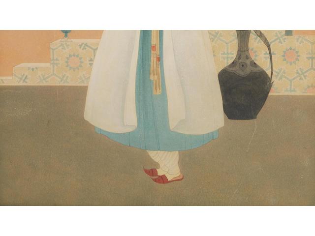 (n/a) Abdur Rahman Chughtai (Pakistan, 1897-1975) Untitled,
