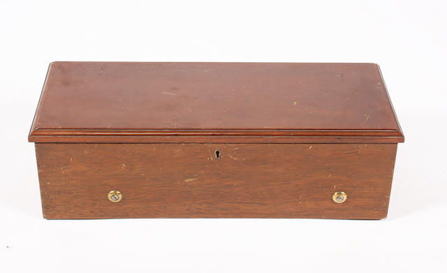 A musical box playing eight airs circa 1880