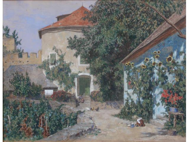 Max Suppantschitsch (Austrian, 1865-1953) 46 x 60cm.