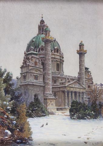 Ernst Graner (Austrian, 1865-1943) 35 x 26cm.