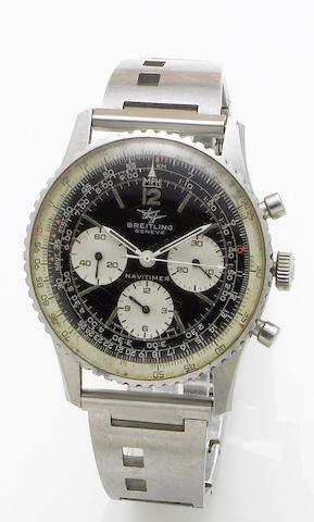 Breitling. A stainless steel manual wind chronograph wristwatchNavitimer, Number 806, Circa 1960