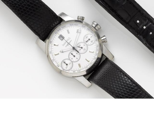 Eberhard & Co. A stainless steel automatic calendar chronograph wristwatchChrono 4, Number: 31041, Case No.: 1-0100, Sold December 2002