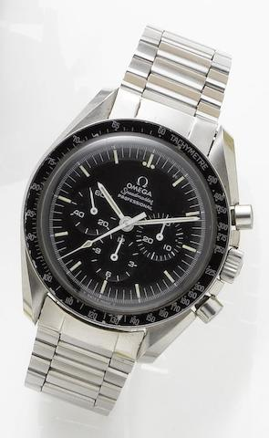 Omega. A stainless steel manual wind chronograph wristwatchSpeedmaster, Circa 1970