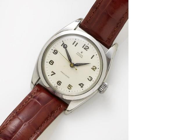 Rolex. A stainless steel manual wind wristwatchPrecision, Ref. 6426, Case Number 452597, Circa 1946