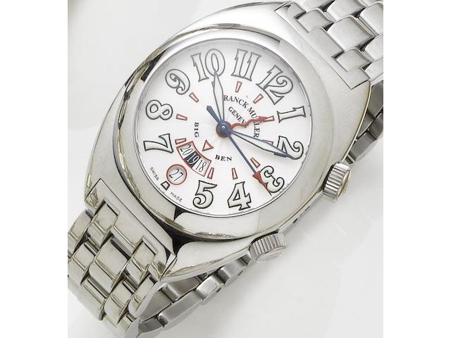 Franck Muller. A stainless steel automatic wristwatch with alarmBig Ben, Number 153, Recent