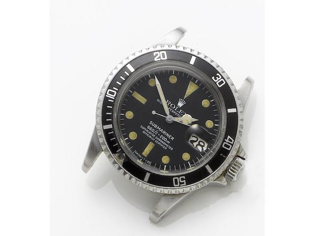 Rolex. A stainless steel automatic wristwatch with dateSubmariner, Ref. 1680, Case Number 5716396, Circa 1978