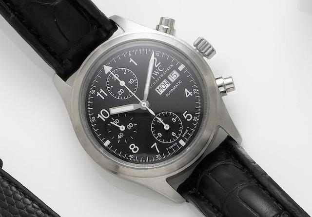 IWC. A stainless steel automatic chronograph wristwatchFligerchronograph, Number 2771081, Sold 25th April 2000
