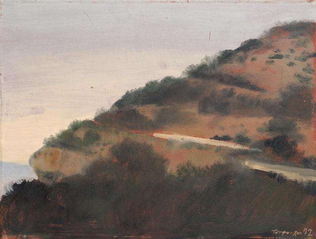 Yiannis Tsarouchis (Greek, 1910-1989) Landscape 24 x 31 cm.