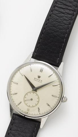 Rolex. A stainless steel manual wind wristwatchPrecision, Circa 1951