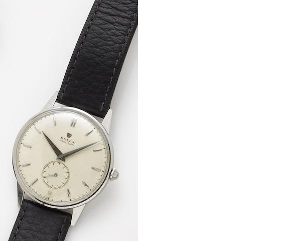 Rolex. A stainless steel manual wind wristwatchPrecision, Circa 1951