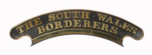 GWR nameplate The South Wales Borderers ex-Castle class 4037