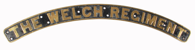 LMS nameplate The Welch Regiment ex-Royal Scot class 46139