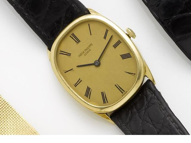 Patek Philippe. An 18ct gold manual wind wristwatchEllipse, Sold 30th July 1973