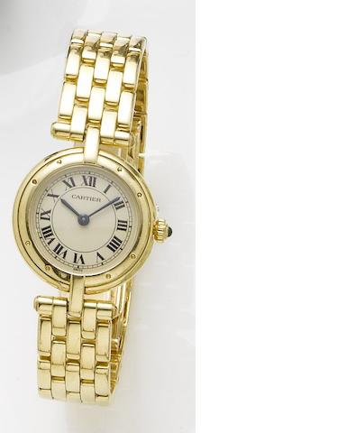 Cartier. A lady's 18ct gold quartz bracelet watchPanthere Vendome, Recent