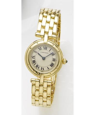 Cartier. A lady's 18ct gold quartz bracelet watchPanthere Vendome, Recent