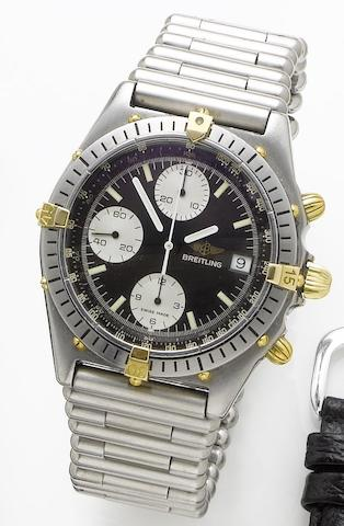Breitling. A stainless steel automatic chronograph wristwatchChronomat, Ref. 81950, Case Number 43026, Sold 25th September 1989