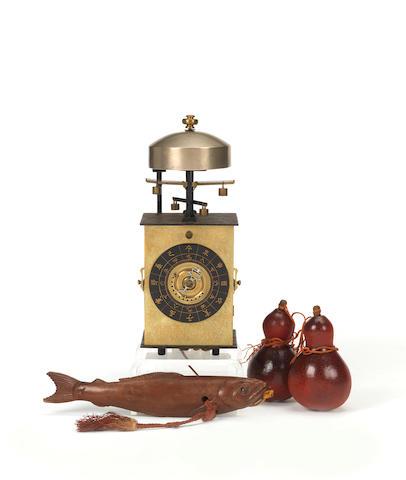 A fine mid 18th century double foliot kake dokei with alarm