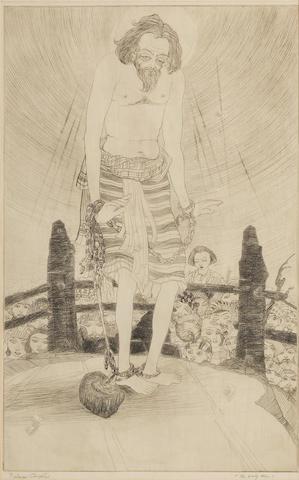 Abdur Rahman Chughtai (Pakistan, 1897-1975) The Holy Man,