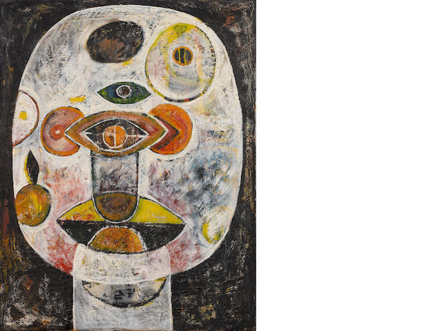 Avinash Chandra (India, 1931-1991) White Head,