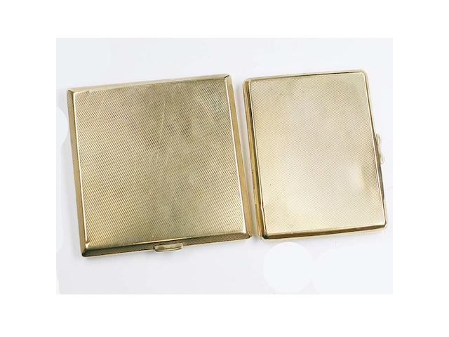 Two 9ct gold cigarette cases