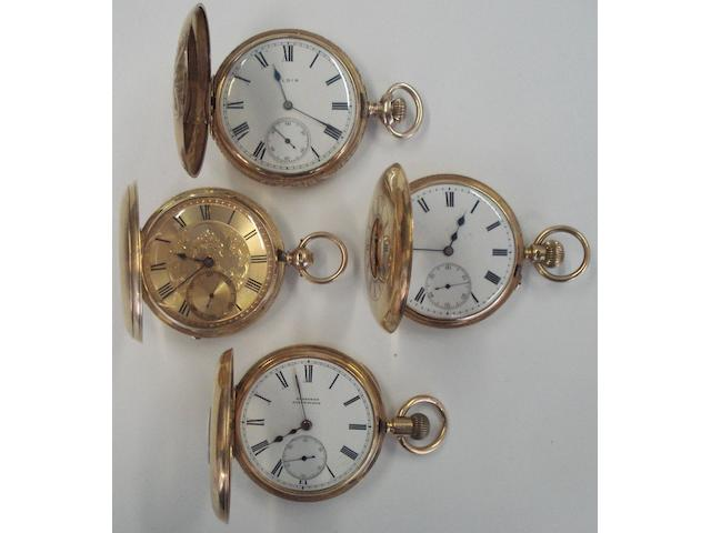 A lot of 4 various gold pocket watches (4)