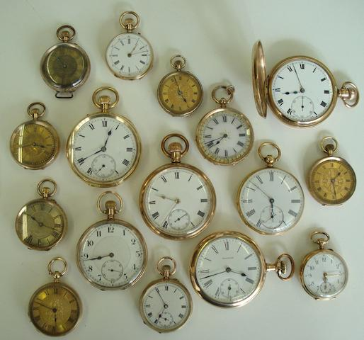 A lot of 18 various pocket watches(18)