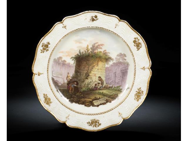 A documentary Naples, Real Fabbrica Ferdinandea plate Circa 1773-75