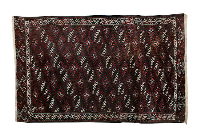 A Yomut carpet West Turkestan, 330cm x 203cm