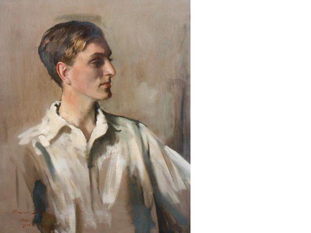 Sir Oswald Birley (British, 1880-1952) Portrait of  Young Gentleman