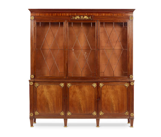 A good Regency mahogany library bookcase