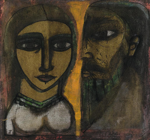 Badri Narayan (India, born 1929) Gold faced Couple,