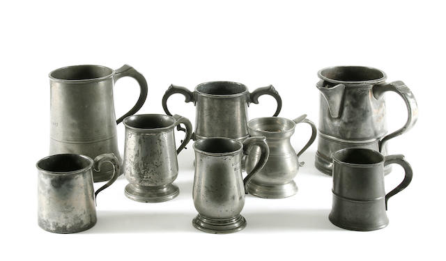 A group of 19th Century mugs