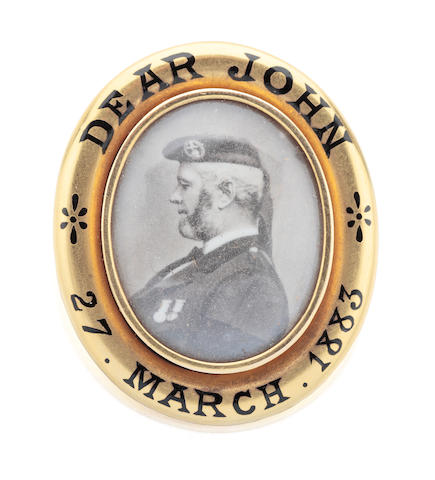 Of Royal Interest: A presentation memorial locket brooch for John Brown presented by Queen Victoria Circa 1883