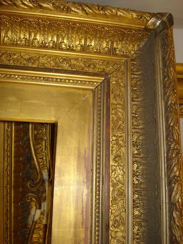 A large Scottish 19th Century gilded composition frame