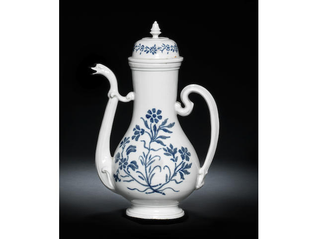 A large Doccia coffee pot circa 1745
