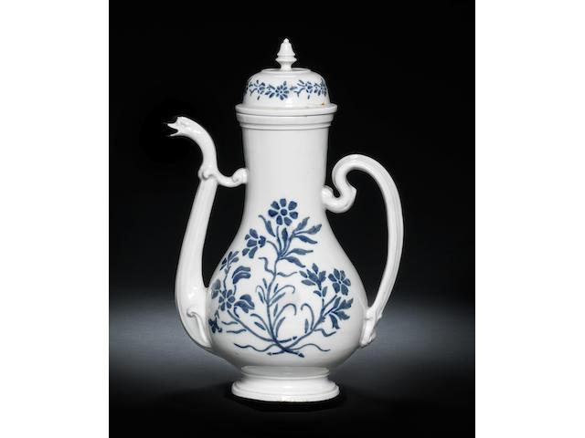 A large Doccia coffee pot Circa 1747-50