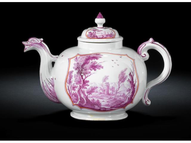 A Doccia teapot and cover Circa 1750