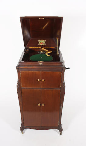 A good HMV model 13 cabinet grand gramophone circa 1926,