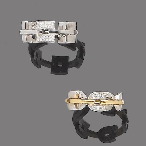 Two diamond-set rings, by Alfieri & St.John *** NOT DAMIANI (2)