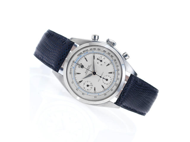 Rolex. A fine and historically interesting stainless steel chronograph wristwatchOyster Chronograph, Anti-Magnetic, Ref:6234, Case No.530410, Made in 1959