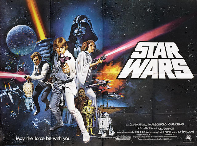 Two Star Wars related posters,  including; Star Wars, Twentieth Century-Fox, 1977,2
