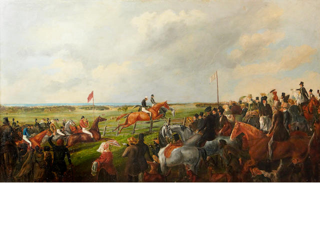 James Shaw (Scottish, 1815-1881) The first Steeplechase in South Australia, 25 September 1846