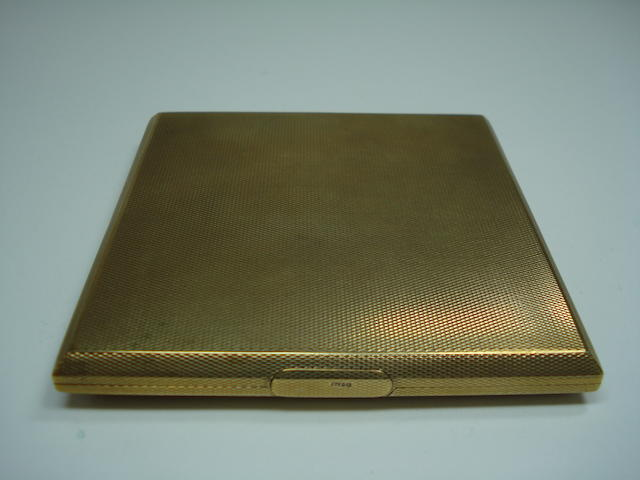 A 9ct gold cigarette case, Birmingham,