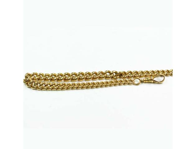 An 18ct gold graduated curb-link Albert chain