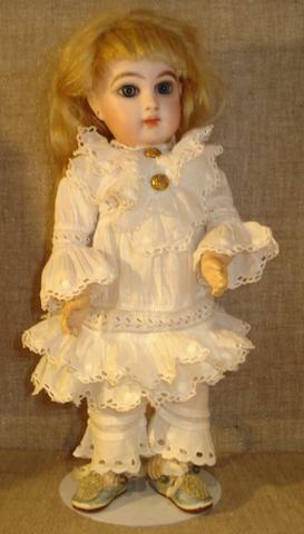 Rare size 2 Emile Jumeau bisque head Bebe, 1881-86