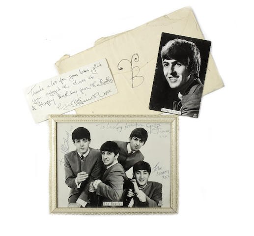 George Harrison autograph material, 1963,