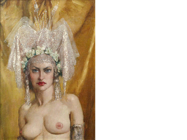 Norman Alfred Williams Lindsay (Australian, 1879-1969) 'The headdress'
