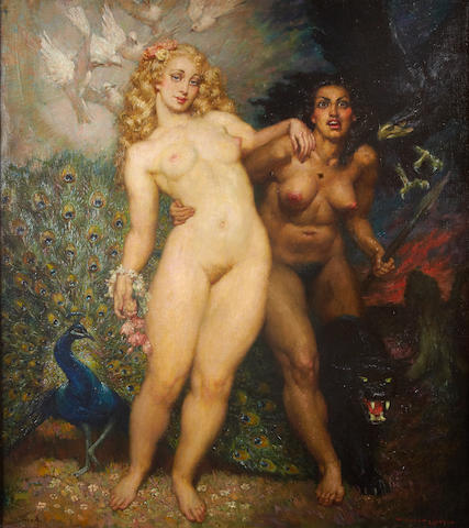 Norman Alfred Williams Lindsay (Australian, 1879-1969) 'The Sisters'