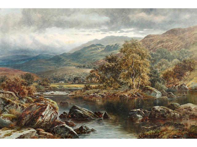 William Henry Mander (British, 1850-1922) On the River Llugwy, Capel Curig